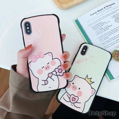 Ốp chống sốc heo lovely smile iPhone XS MAX