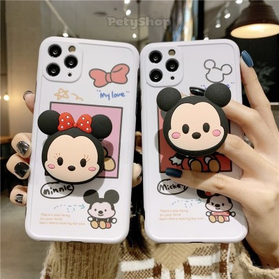 Ốp đôi bọc camera Mickey Minnie + socket iPhone 7 Plus/8 Plus
