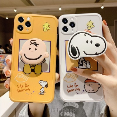 Ốp bọc camera Snoopy + socket iPhone 7 Plus/8 Plus