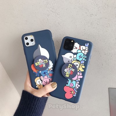 Ốp dẻo BT21 kèm socket VS2 iPhone 11
